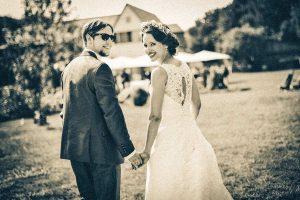 glückliches Brautpaar Fotoshooting